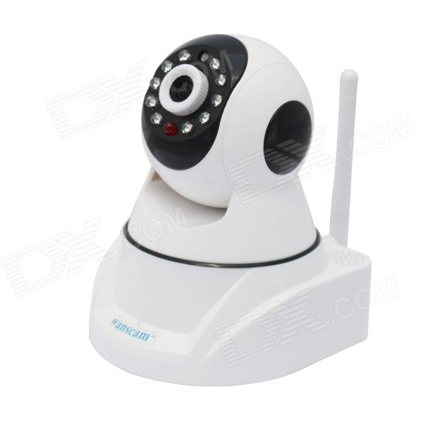 WANSCAM HW0030 1/4 CMOS 1.0MP Home IP Camera w/ Wi-Fi, 10-LED IR Night Vision, US Plug wanscam jw0004 1 4 cmos 0 3mp wireless p2p indoor ip camera w 13 ir led wi fi white uk plug