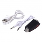 HDMI Male to VGA Female Adapter w/ Audio / USB Cable - Black + Red