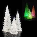 MY-14 6W RGB Light LED Christmas Trees Desk Table Decoration - Transparent (3 PCS)