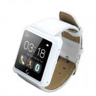 "U10L 1.54"" Bluetooth V4.0 Smart Wrist Watch w/ Pedometer / Stopwatch / Voice Call - White"