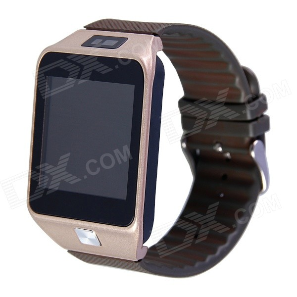 Aoluguya W9 1.54 Bluetooth V4.0 Smart Watch Phone w/ Remote Shutter Release - Gold pg 9027 bluetooth selfie remote controller shutter ball for iphone android phones 1 x cr2032