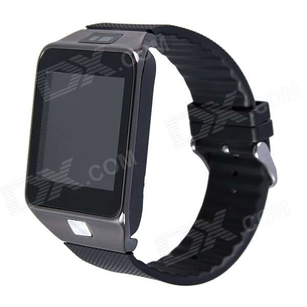 Aoluguya W9 1.54 Bluetooth V4.0 Smart Watch Phone w/ Remote Shutter Release - Gray pg 9027 bluetooth selfie remote controller shutter ball for iphone android phones 1 x cr2032