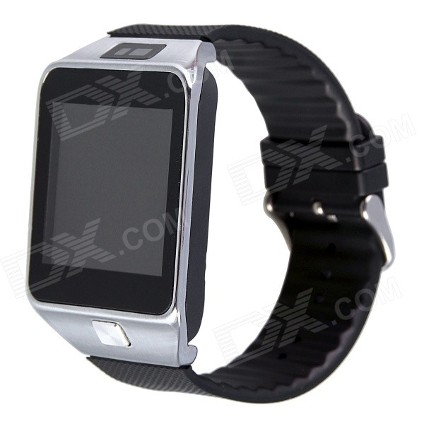 Aoluguya W9 1.54 Bluetooth V4.0 Smart Watch Phone w/ Remote Shutter Release - Silver pg 9027 bluetooth selfie remote controller shutter ball for iphone android phones 1 x cr2032