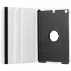 360 Degree Rotating Flip Case Cover Swivel Stand for IPAD MINI 3 / 2 / 1 - White