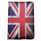 UK National Flag Style 360 Degree Rotation PU Leather Case for IPAD MINI 3 - Blue + Red
