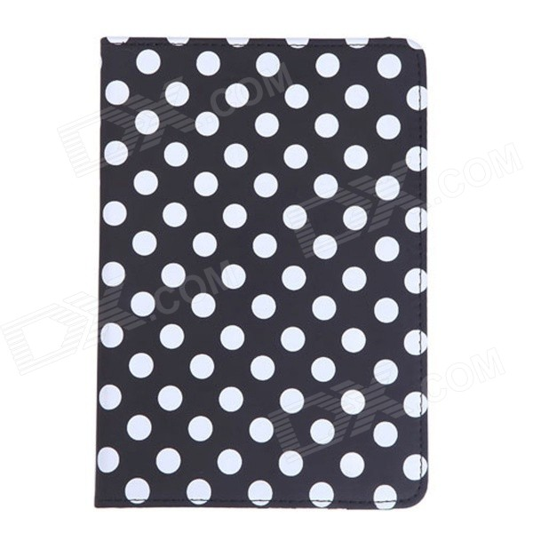 где купить 360 Degree Rotatable Polka Dot Pattern Full Body Case for IPAD MINI 3 - Black + White по лучшей цене