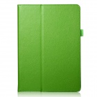 Lichee Pattern Protective PU Leather Case Cover Stand w/ Auto Sleep for IPAD AIR 2 - Green