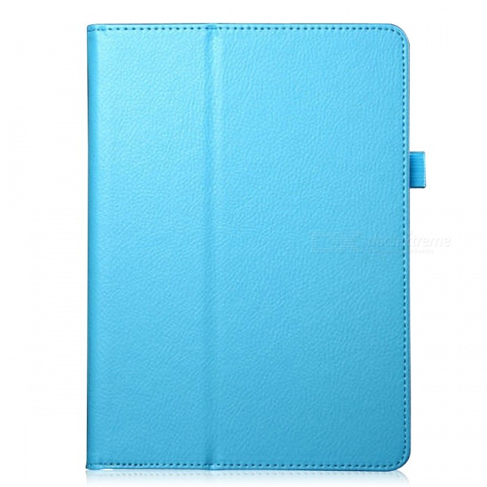 Lichee Pattern Protective PU Leather Case Cover Stand w/ Auto Sleep for IPAD AIR 2 - Light Blue samdi ultra thin protective pu leather case cover stand w auto sleep for ipad air blue