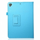 Lichee Pattern Protective PU Leather Case Cover Stand w/ Auto Sleep for IPAD AIR 2 - Light Blue