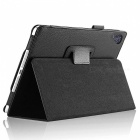 Lichee Pattern Protective PU Leather Case Cover Stand w/ Auto Sleep for IPAD AIR 2 - Black