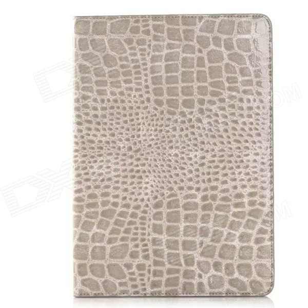 Crocodile Pattern PU Leather Case w/ Card Slot + Holder for IPAD AIR 2 - GrayCases for Ipad<br>Color Grey Brand NO Quantity 1 Piece Material PU Leather Shade Of Color Gray Compatible Models IPAD AIR 2 Design Solid ColorWith StandCard Slot Type Cases with Stand Auto Wake-up / Sleep No Packing List 1 x Case<br>