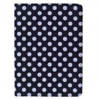 Buy Polka Dot 360 Degree Rotating PU Leather Case Stand + Auto Sleep IPAD AIR 2 - Black White