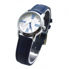 MIKE 8221 Women's Stainless Steel Case PU Band Quartz Analog Wrist Watch - Deep Blue (1 x 626)