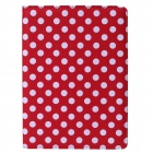 Buy Polka Dot 360 Degree Rotating PU Leather Case Stand + Auto Sleep IPAD AIR 2 - Red White