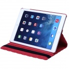 Polka Dot 360 Degree Rotating PU Leather Case w/ Stand + Auto Sleep for IPAD AIR 2 - Red + White