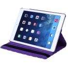 Polka Dot 360 Degree Rotating PU Leather Case w/ Stand + Auto Sleep for IPAD AIR 2 - Purple + White