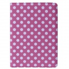 Polka Dot 360 Degree Rotating PU Leather Case w/ Stand + Auto Sleep for IPAD AIR 2 - Rosy + White
