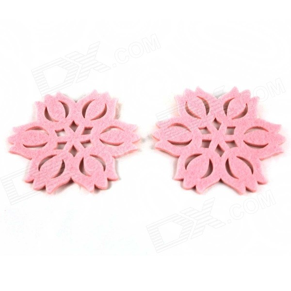 Creative Flower Style Sponge Cup Mats Coasters - Pink (2 PCS)