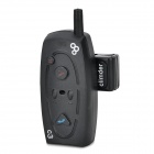 Bluetooth Hands-free Walkie Talkie / Intercom Headset w/ FM / Mic. for Motorcycle Helmet - Black