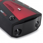 V7 GPS Navigator Car Radar Detector w/ English/Russian Voice - Black + Red