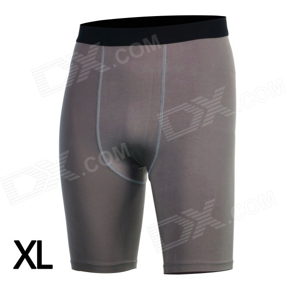 men-sports-tight-fit-dacron-spandex-pants-for-running-climbing-fitness-exercise-grey-xl