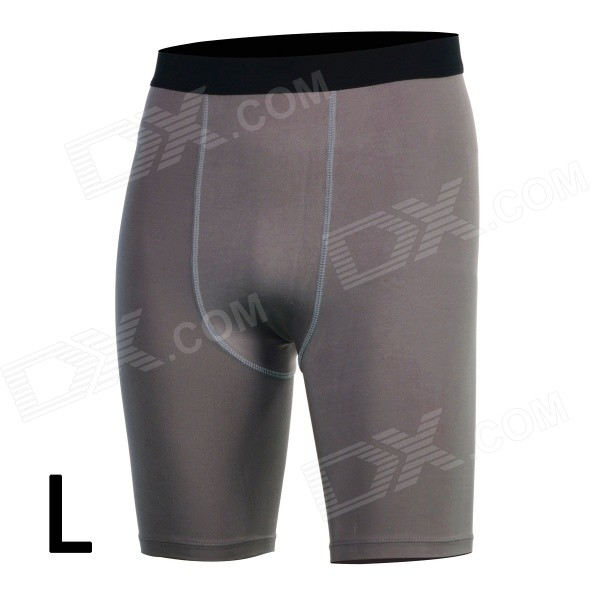 men-sports-tight-fit-dacron-spandex-pants-for-running-climbing-fitness-exercise-grey-l