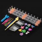DIY Educational Silicone Loom Bundle Kit / Rainbow Bracelet / Candy Watch - Multicolored