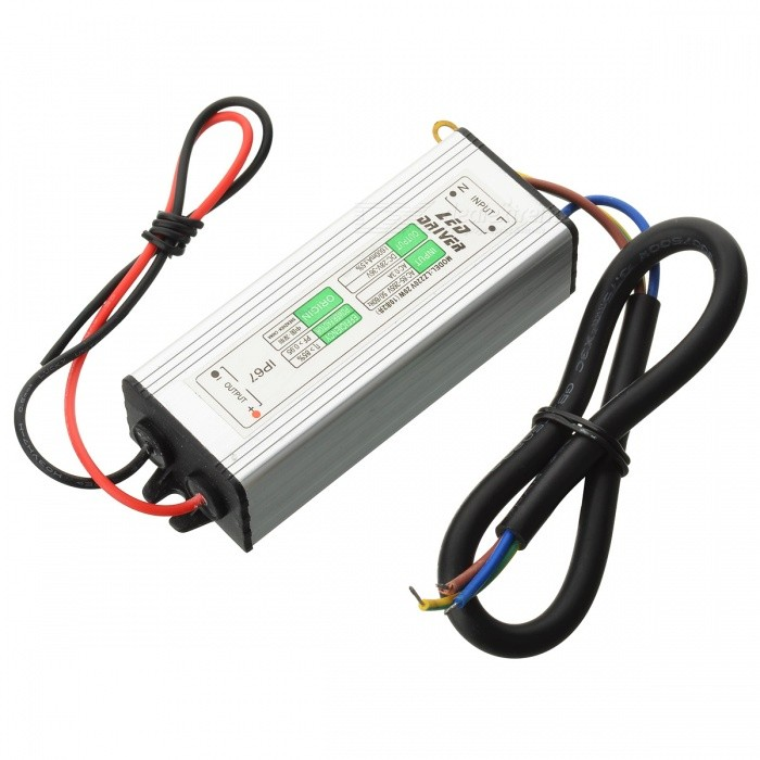 JRLED JRLED-HY-20W-AS Waterproof 20W LED Driver - Silver + White (100~240V)