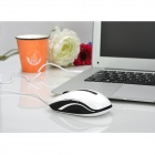 Rapoo N3600 USB 2.0 Wired 1000/1600/2000DPI Ergonomic Mouse - White + Black