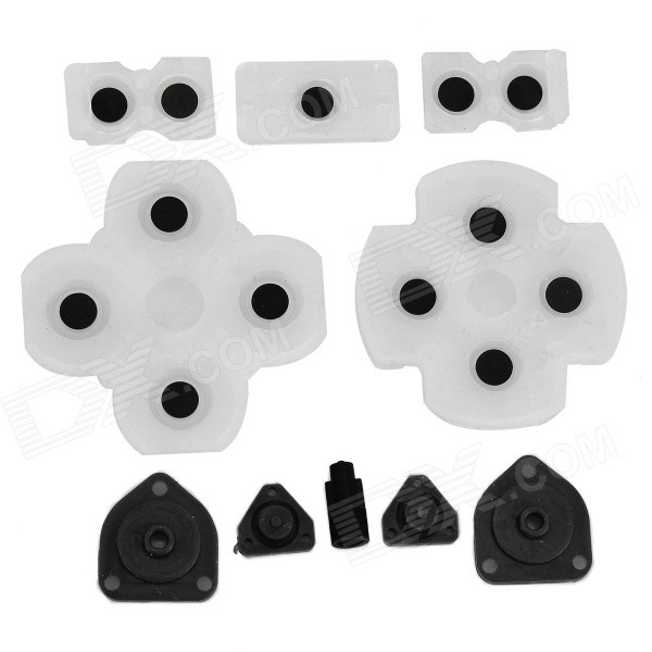 replacement-silicone-key-set-for-ps4-wireless-controller-transparent-black