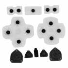 Replacement Silicone Key Set for PS4 Wireless Controller - Transparent + Black
