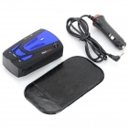 GPS Navigator Car Radar Detector w/ English/Russian Voice - Black + Deep Blue