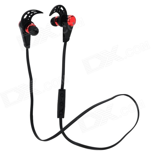 HV805 Sports Wireless Bluetooth V4.0 In-ear Earphone w/ Microphone - Black + Red nameblue st 33 sports bluetooth v4 0 in ear earphone headphone set w microphone volume control