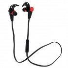 HV805 Sports Wireless Bluetooth V4.0 In-ear Earphone w/ Microphone - Black + Red