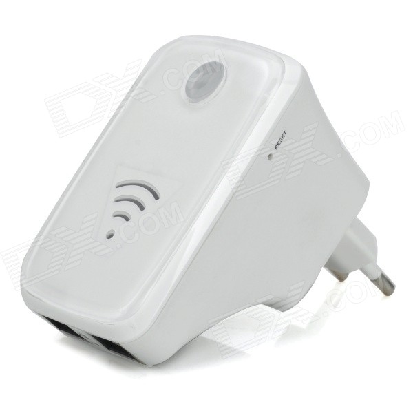 UNT-02 Wall-Plug 300Mbps Wireless-N Mini Router Signal Amplifier Repeater - White (EU Plug)Routers<br>Form  ColorWhiteBrandN/AModelUNT-02Quantity1 DX.PCM.Model.AttributeModel.UnitMaterialABS plasticShade Of ColorWhiteTypeRouterTransmission Rate300 DX.PCM.Model.AttributeModel.UnitNetwork ProtocolsIEEE 802.11n,IEEE 802.11b,IEEE 802.11gSecurity64,128-bit WEP,WPA,Others,WPA / WPA2Wireless Data Rates300MUI LanguageEnglishSupport DD-WRTNoPowered ByAC ChargerSupports SystemWin xp,Win 2000,Win vista,Win7 32,Win7 64,Win8 32,Win8 64,LinuxPacking List1 x Signal amplifier repeater 1 x RJ45 network cable (80cm)1 x EU plug power adapter 1 x English user manual<br>