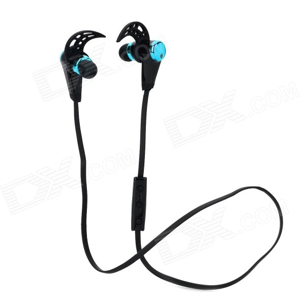 HV805 Sports Wireless Bluetooth V4.0 In-ear Earphone w/ Microphone - Black + Blue nameblue st 33 sports bluetooth v4 0 in ear earphone headphone set w microphone volume control
