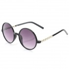 OULAIOU Women's Plastic Frame Resin Lens UV400 Protection Sunglasses - Black + Purple