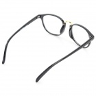 Fashion Round PC Frame Resin Lens Eyeglasses - Black