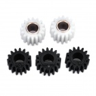 ABS Printer Developing Gears for Ricoh 1015 / 1018 / 2018 - White + Black (5 PCS)