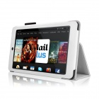 Protective Flip-Open PU Leather Case w/ Stand for Amazon Kindle Fire HD 7 7'' - White