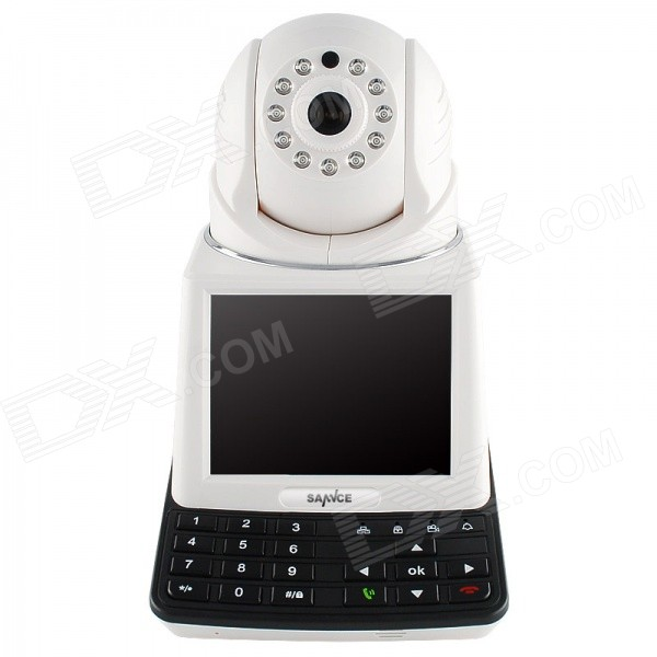 SANNCE SN-NPC0030 3.5 Screen 1/4 CMOS 0.3MP Network Video Phone Call IP Camera - Black + White wireless service call bell system popular in restaurant ce passed 433 92mhz full equipment watch pager 1 watch 7 call button