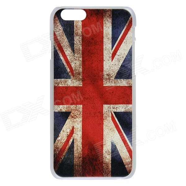 Retro UK Flag Pattern Protective PC Back Case for IPHONE 6 4.7 - Red + Blue glitter tpu gel back phone case for iphone 7 4 7 retro uk flag