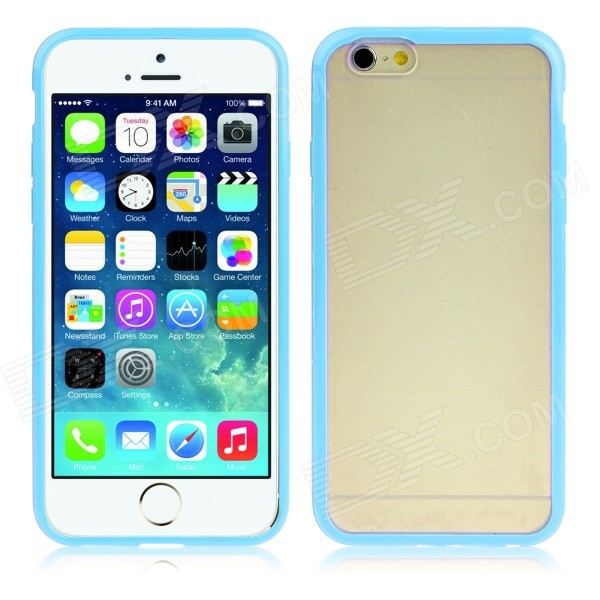 Protective Matte TPU Back Case for IPHONE 6 4.7 - Light Blue сетевое зарядное устройство cellular line achusbcompactcp pink