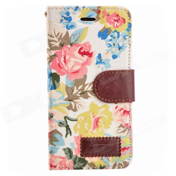 Country Style Flower Cloth Pattern Protective Full Body Case for IPHONE 6 4.7 / 6S - White + PinkLeather Cases<br>Form Colorwhite + pink + multi-colorBrandNoModelNoQuantity1 DX.PCM.Model.AttributeModel.UnitMaterialPC + PUCompatible ModelsIPHONE 6S,IPHONE 6DesignMixed Color,Others,Flower Cloth PatternStyleFull Body CasesCertificationNoOther FeaturesNoPacking List1 x Case<br>
