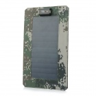6.5W 5V USB Solar Panel Charger - Black + Camouflage Green