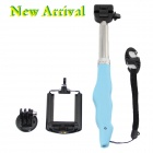 HGYBEST 3-in-1 Monopod + Holder + Adapter for Camera / GoPro Hero / SJ4000 / IPHONE / Samsung - Blue