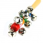 Orff Musical Instrument Wooden Rattle Bell - Silver + Red + Multi-Color