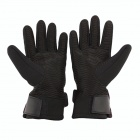 PRO-BIKER DXMS-05 Motorcycle / Bicycle Warm PU Leather + Nylon Racing Gloves - Black (Pair / M)