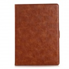 Protective PU Leather Full Body Case w/ Stand + Card / Money Slot for IPAD AIR 2 - Brown