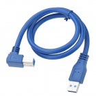 CHEERLINK Universal USB 3.0 AM to BM Cable - Blue (60cm)